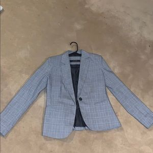 ZARA Checkered gray blazer